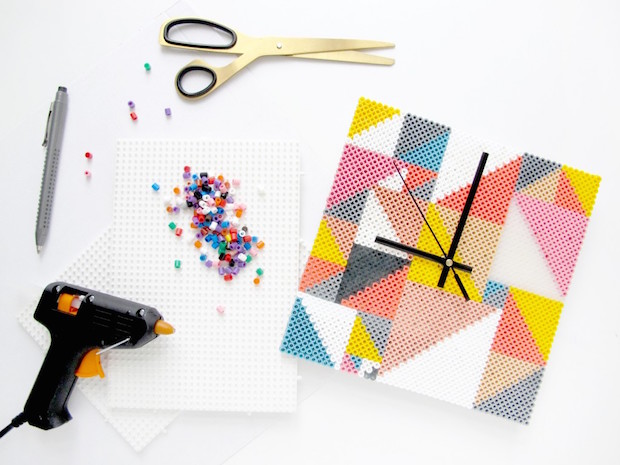 Craft Your Decor: DIY Perler Bead Clock