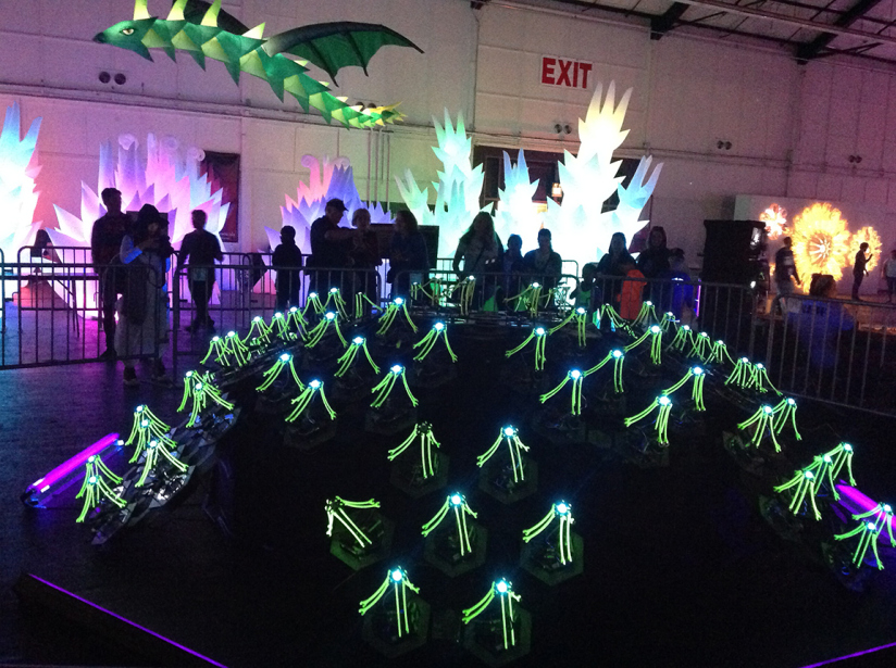 Watch These Dancing Delta Bots Sway and Glow