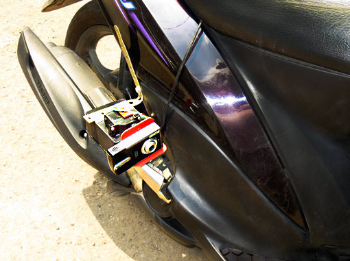 Gyro camera mount motorcycle