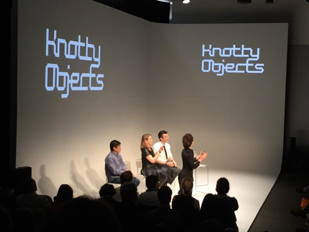 Knotty Objects curatorial team Joi Ito, Paola Antonelli, Kevin Slavin and Neri Oxman open the proceedings