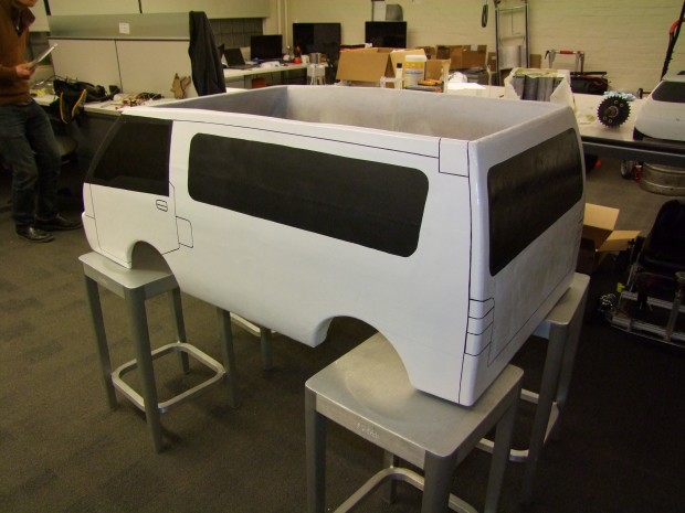 Sanded, primed, and painted body, before the application of decals.