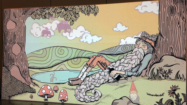 Austin Interactive Installation Meetup's Digital Dreamer is an impressive 15' X 8' interactive mural of the classic story of Rip Van Winkle.