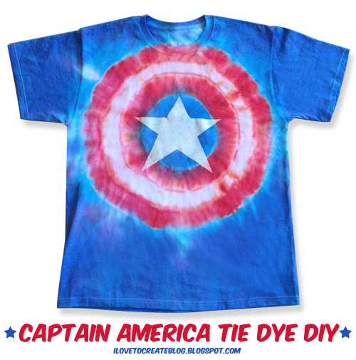 Fashion For The 4th Captain America Tie Dye T Shirt Make