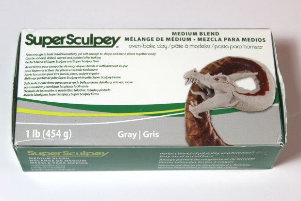 Sculpey Super Sculpturing Compound Medium Blend Gray Clay Pack of 3