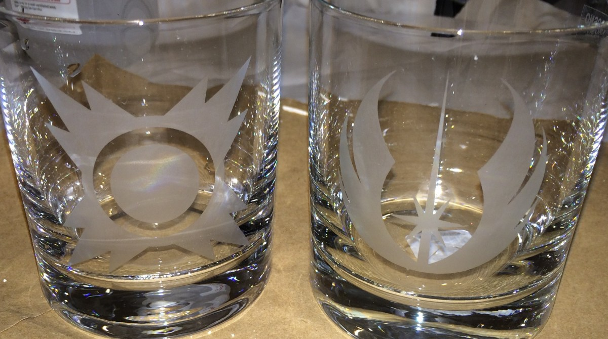 May the Frost Be with You: Etch Your Own Star Wars Drinking Glasses