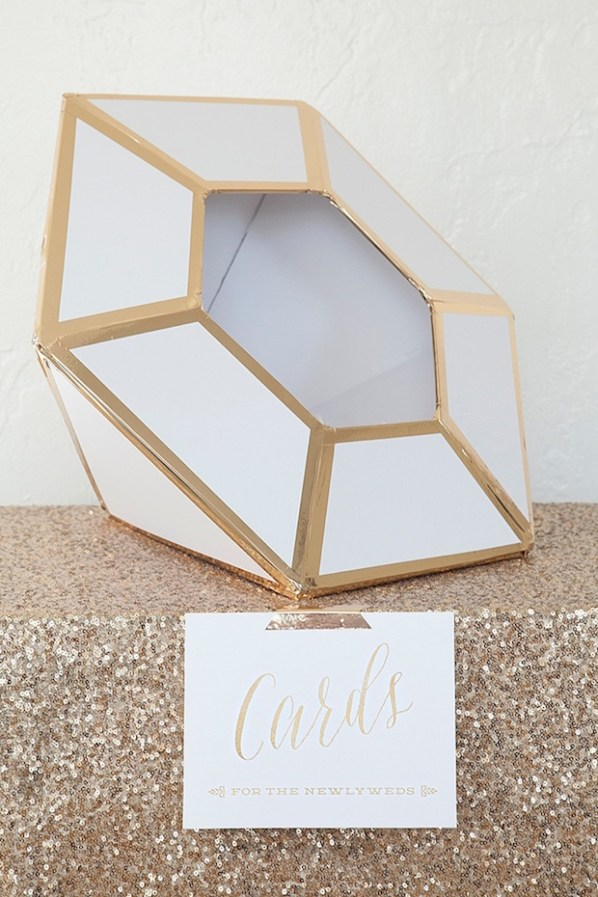 DIY Wedding: Giant Diamond Card Box