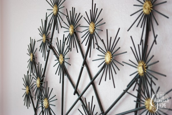 Happy Home: DIY Faux Metal Flower Wall Art