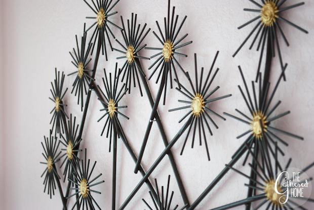 Happy Home: DIY Faux Metal Flower Wall Art