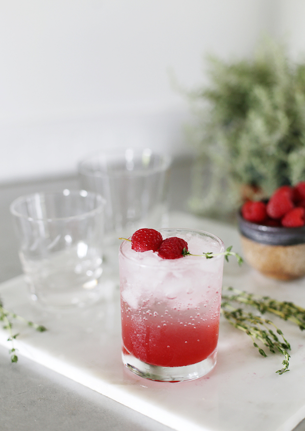 Summer Sips: Refreshing Raspberry Thyme Spritzer