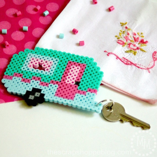 Cute up Your Keys with a Retro Camper Perler Bead Keychain