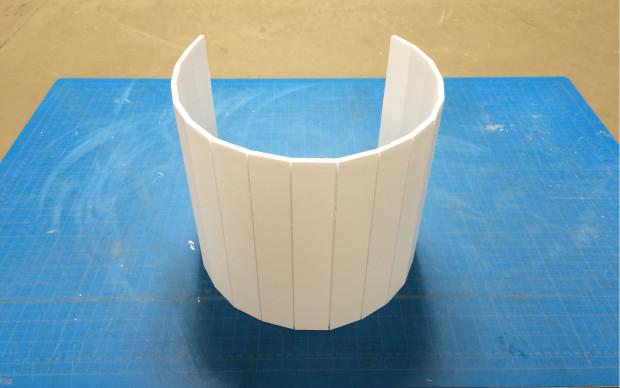 Foamcore cylinder