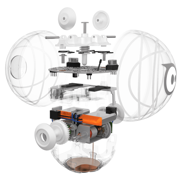 Photo of Exploded View of Sphero SPRK.
