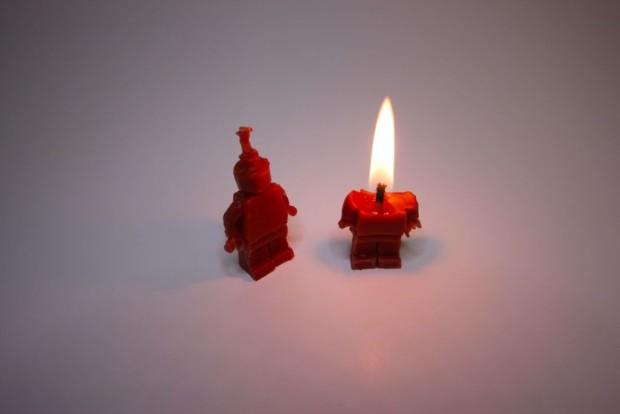 Burning Lego Man