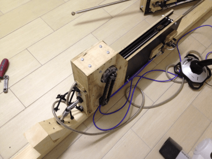 Home made Actuator without security housing.