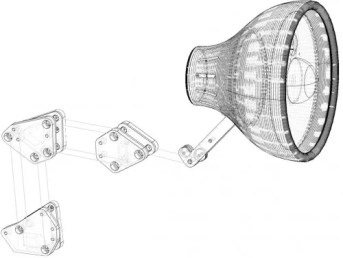 3D CAD design for head and linkages.