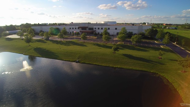 Quadcopter shot of this year's venue.