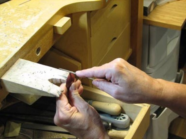 A typical jeweler's bench pin.