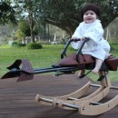 Baby Princess Leia Rocks This Mini Star Wars Speeder Bike