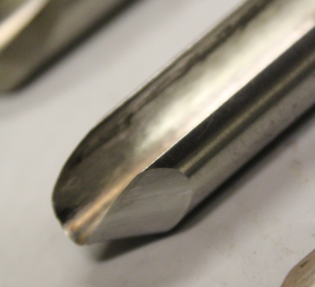 The cut profile of the bowl gouge.