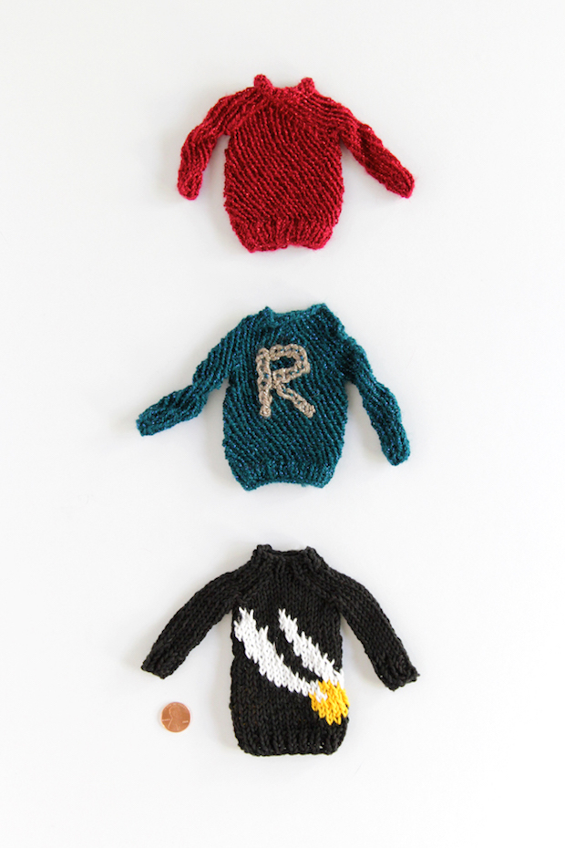 Knit up a Cute Harry Potter-Inspired Mini Golden Snitch Sweater