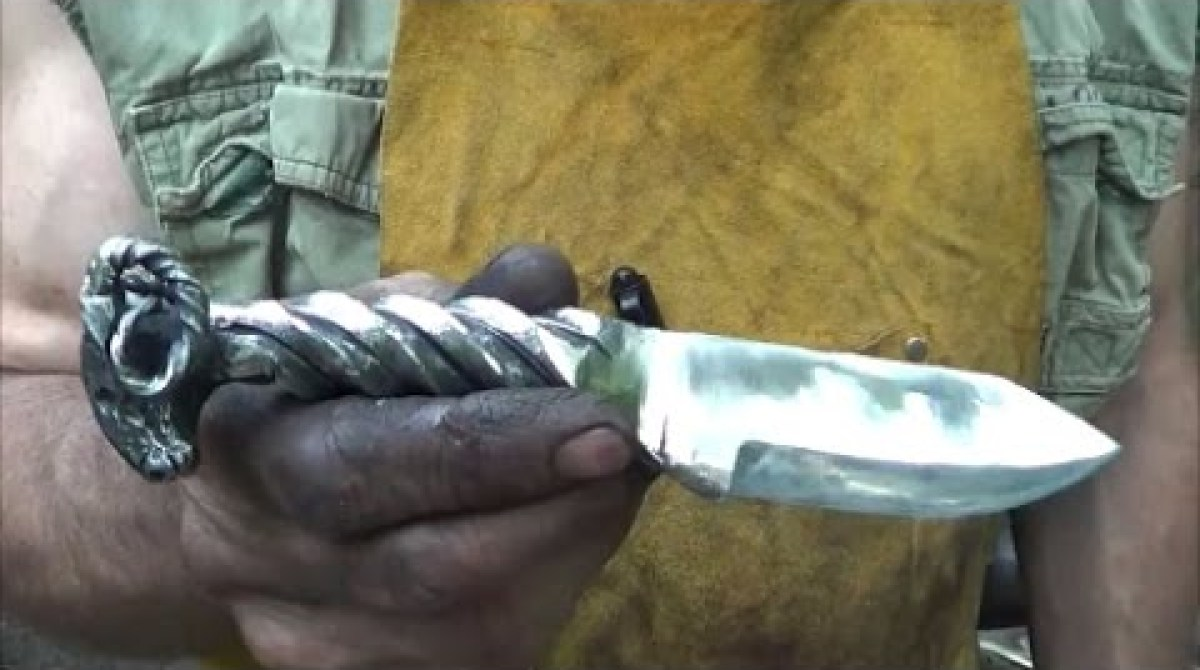 prepping for the zombie apocalypse with backyard knife forging make