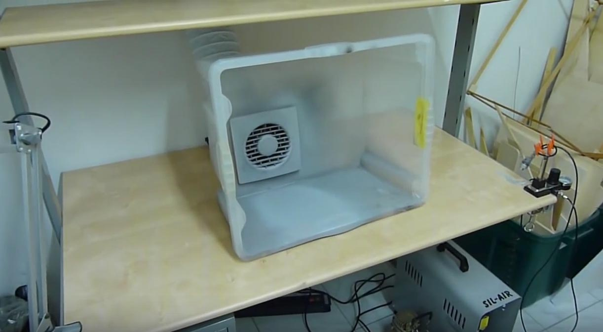Build An Easy And Cheap Tabletop Spray Booth Make