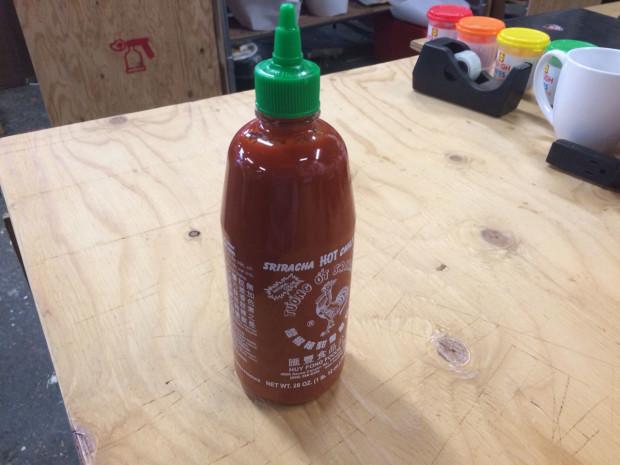 sriracha bottle