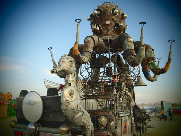 El Pulpo mechanico at Burning Man 2015. Picture: Jess Hobbs