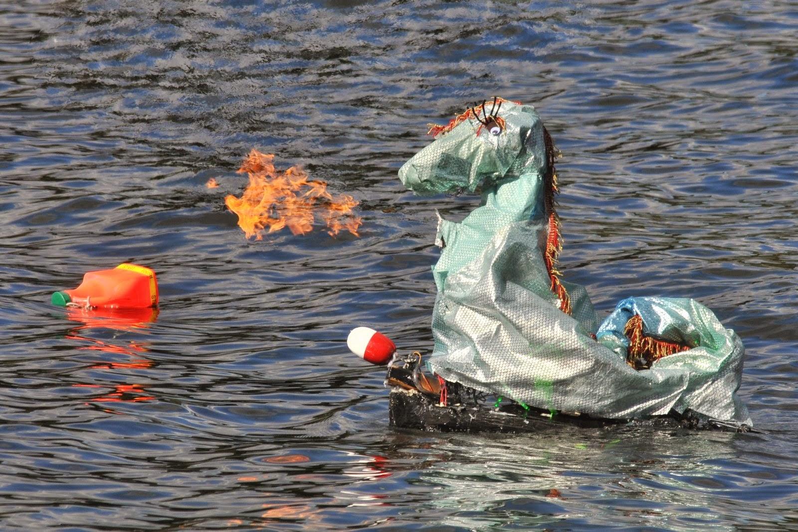 Robot Sea Monsters Light Targets on Fire on Lake Champlain
