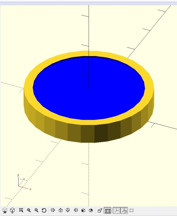 Now we have a basic coin shape to work with.