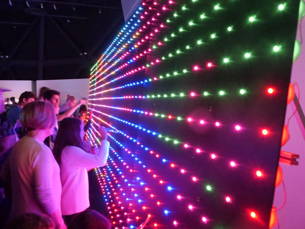 """Digitally """"Paint"""" a Wall of 2,500 LEDs with Actual Brushes"""