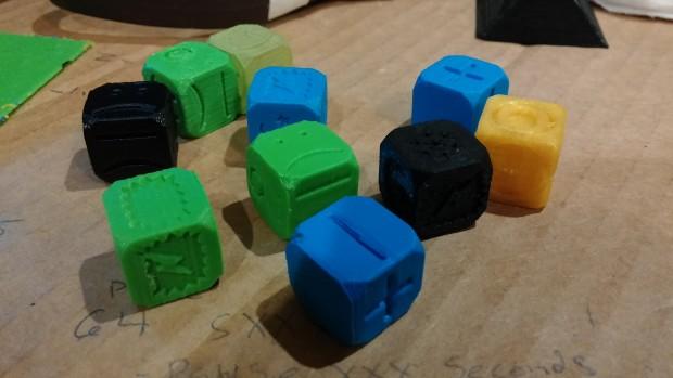 All the pretty dice. Photo: Andrew Terranova