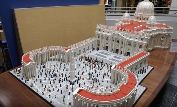 Upon This Brick    Details of the Lego Vatican Build | Make: