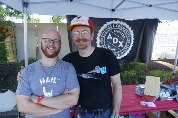 Matt Preston of Portland ADX and David Lewis of Veterans Bicycle Co.