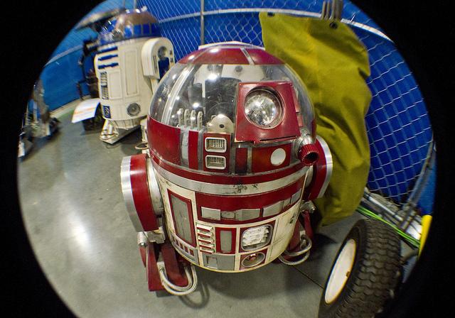 R2-D2 Parties Under Massive Disco Balls at Maker Faire Milwaukee