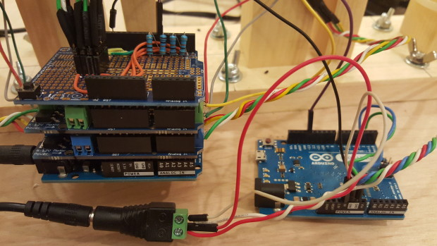 The completed Arduino stack.