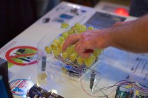 Capacitive sound triggers using grapes.