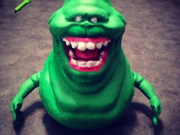 Creepy prints for halloween: Ghostbusters Slimer