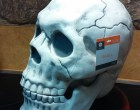 Scare Trick or Treaters with an Animatronic Skull Candy Jar