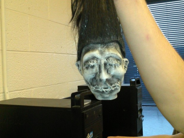 Creepy prints for halloween: Shrunken Head