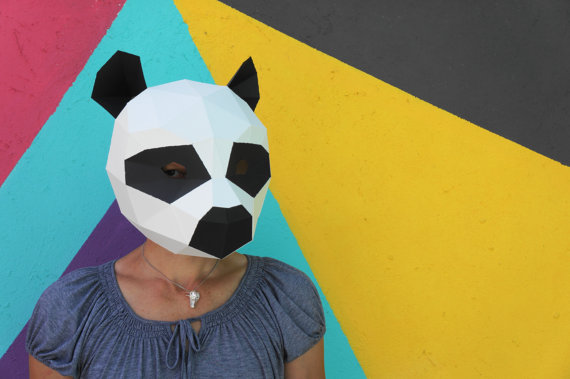Fold Amazing Geometric Animal Masks from Cardstock | Make: