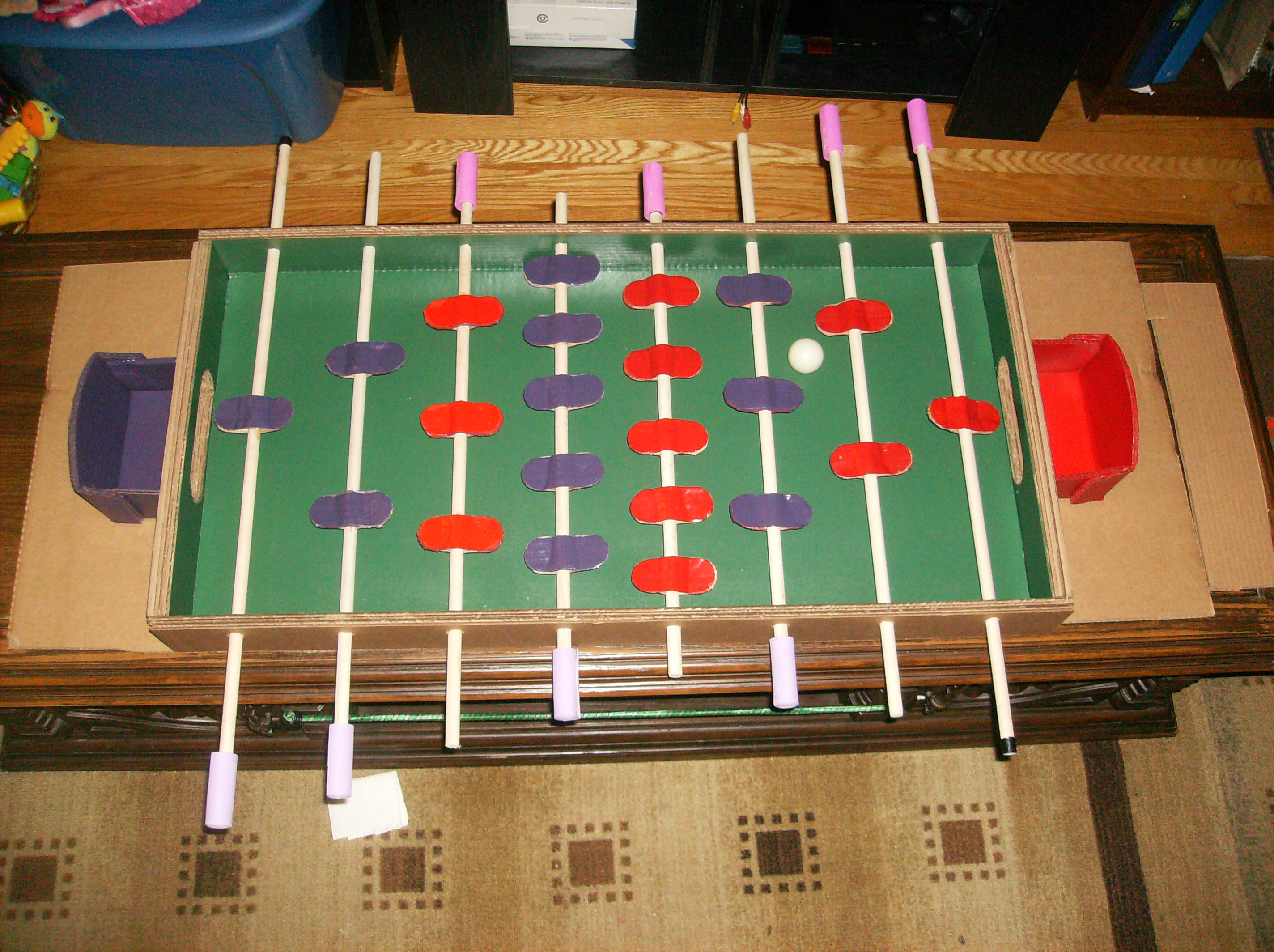 This Foosball Table Is Made Almost Entirely from Cardboard