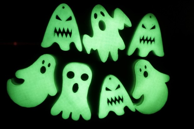 3D Printing for Beginners has an excellent tutorial on how to create glow in the dark ghost fridge magnets.