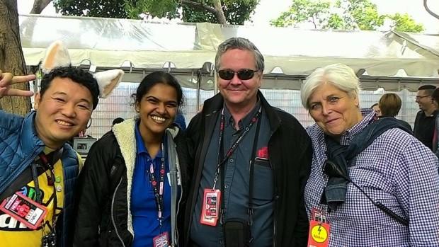 Takaksu, Kiruthika, myself and Sherry Huss (photo: Becca Henry)