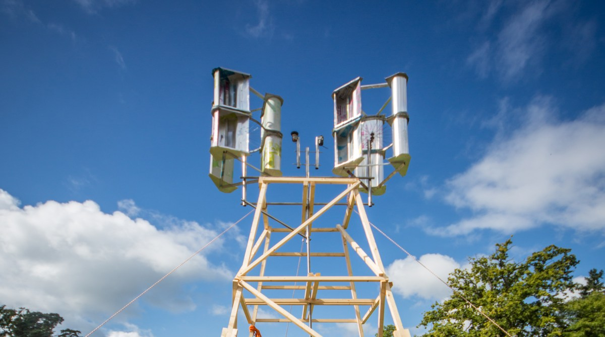 This $30 Wind Turbine Is Made from Bike Parts and Discarded Aluminum