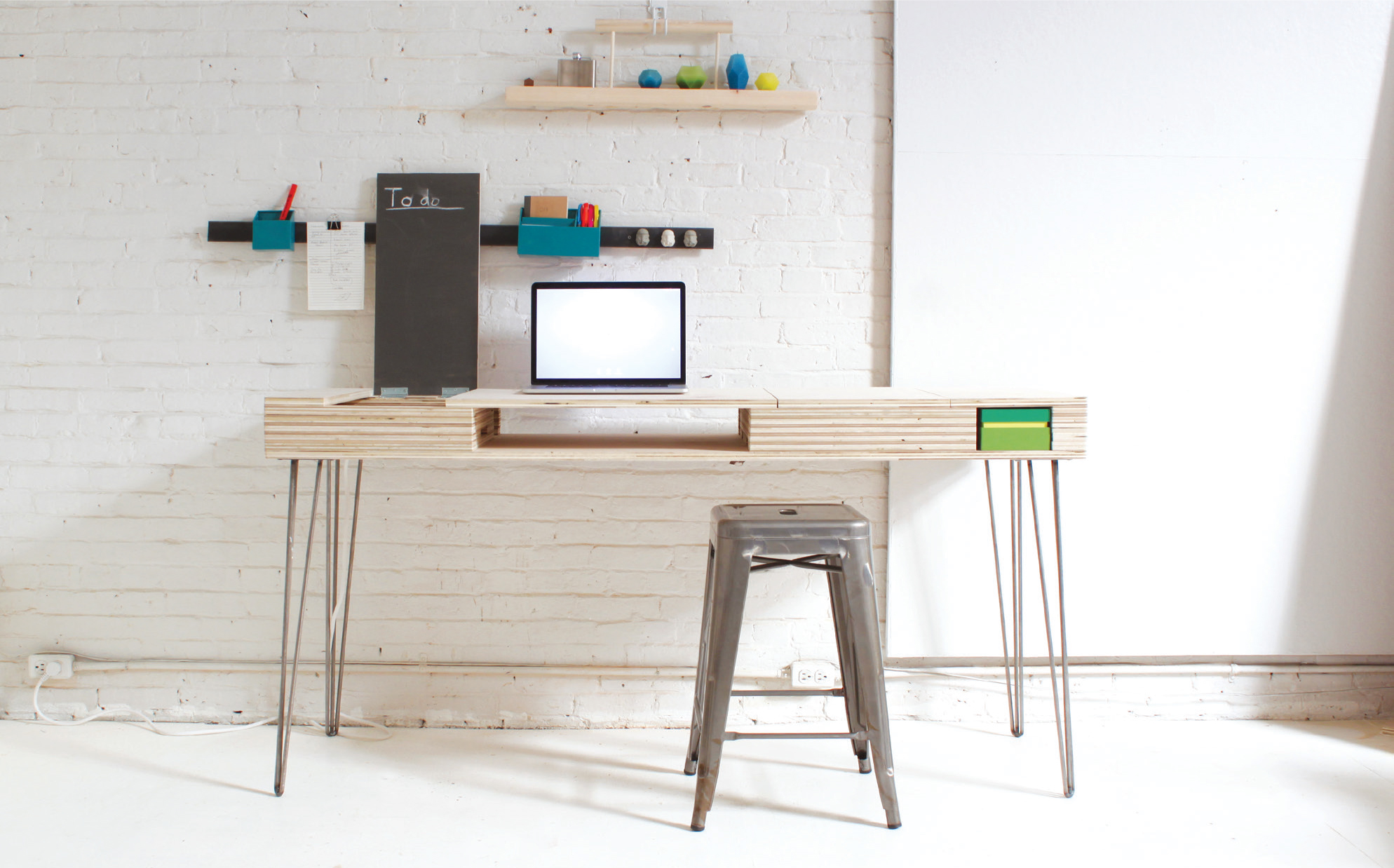 Stylish Desk build a stylish, modern desk with flip-up storage | make: