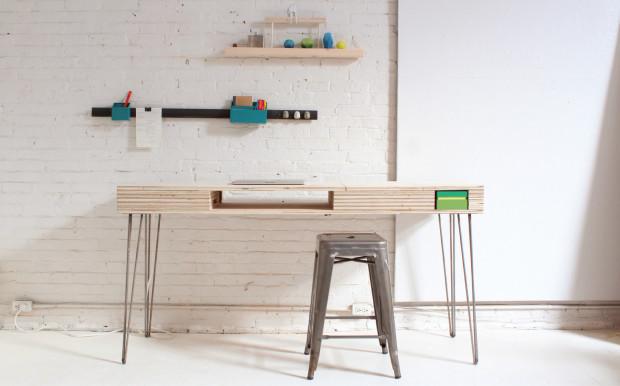 Finished Flip Desk