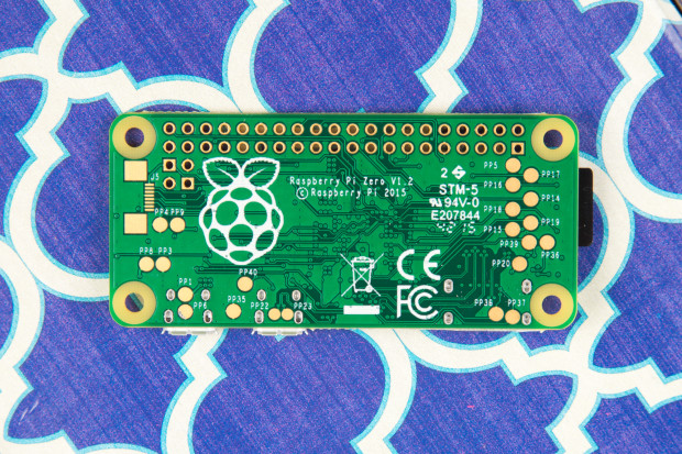 The Pi Zero has no components on one side. Photo: Hep Svadja