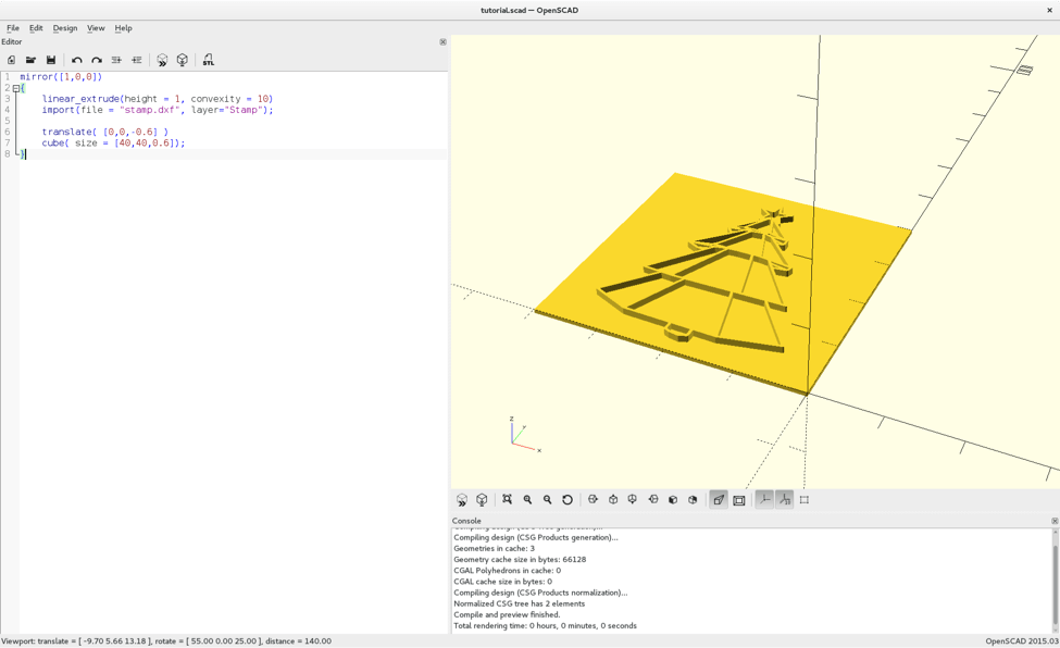 3D Print Custom Stamps Using Inkscape and OpenSCAD | Make:
