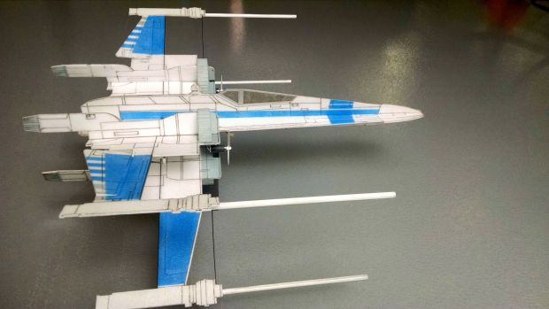 Assembled T-7- X-Wing Side View